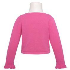 Sweaters  Bonnie Jean Toddler Girls 2T Fuchsia Beaded Rosette Shrug Big Discount
