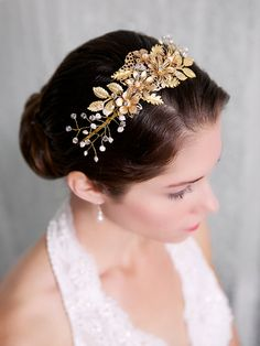 Gold Flower Bridal Headband