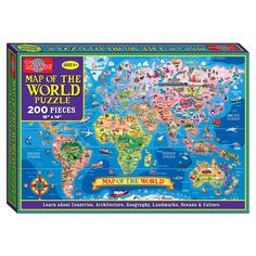 ts shure map of the world jigsaw puzzle 200 piece
