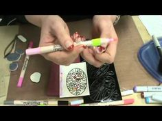 #71 Tim Holtz Water Brush, Elizabeth Crafts & Stamplistic Stamps by Scrapbooking Made Simple - YouTube