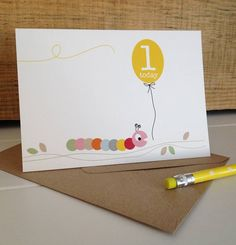 Caterpillar First Birthday Card from notonthehighstreet.com