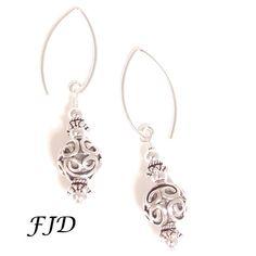 Bali Sterling Silver Earrings-1