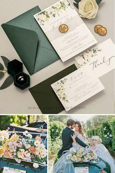 Greenery Emerald Wedding Ideas for Summer Wedding #wedding#weddingideas#weddinginvitations