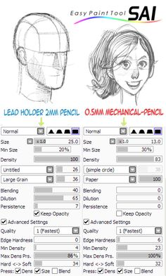 how to make a pencil sketch on paint tool sai -