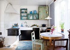 Zelfgeknutselde keuken