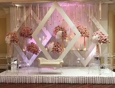 Mesmerize your guests with the charm of these engagement stage decorations ideas. Discover about the latest Engagement Stage Decoration Ideas with this post. Engagement Stage Decoration, Wedding Backdrop Design, Wedding Stage Design, Wedding Hall Decorations, Wedding Reception Backdrop, Backdrop Decorations, Backdrops, Church Decorations, Wedding Church