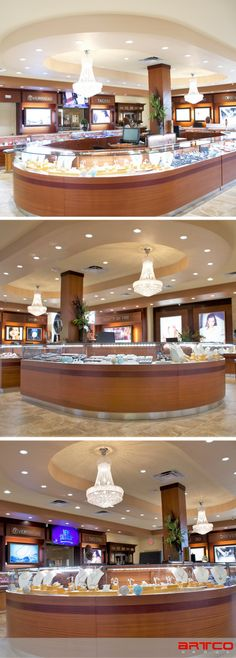 Ackerman Jewelers. Manufacture & Design of Store Fixtures by Artco Group. . . . #retaildesign #storedesign #storefixtures #Jewelers #millwork