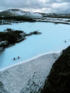 Blue Lagoon Spa - Iceland, I wanted to go here for my honeymoon. Hawaii was pretty awesome though. I still want to go here someday. Places Around The World, Oh The Places You'll Go, Travel Around The World, Places To Travel, Places To Visit, Around The Worlds, Blue Lagoon Spa Iceland, Destinations, Thinking Day