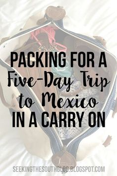 Packing for a Five-Day Trip to Mexico in a Carry On While I was packing for my recent trip to Cabo San Lucas, Mexico, I did my usual research via [& Mexico Vacation Outfits, Outfits For Mexico, Cancun Vacation, Vacation Packing, Travel Packing, Cancun Outfits, Travel Tips, Cruise Vacation, Mission Trip Packing