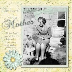 A Mother, digital layout by 7evans