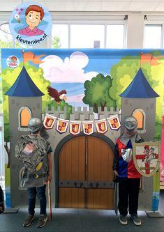 Kasteel, thema ridders, jonkvrouwen en kastelen, kleuteridee Castle Crafts, Medieval Times, Sonic The Hedgehog, Disney Characters, Fictional Characters, Art, Classroom Management, Scrap, Castles