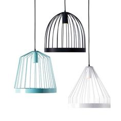 Inspired by the classic bird cage structure, the Bird Cage Pendant Lamp, whether hung alone or in a cluster, makes for a playfully modern home accessor
