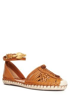 Why do these cost so much! Light Cuir Vitello Woven Espadrille by Valentino for Preorder on Moda Operandi