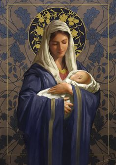 Leading Illustration & Publishing Agency based in London, New York & Marbella. Mother Mary Images, Images Of Mary, Blessed Mother Mary, Blessed Virgin Mary, Virgin Mary Art, Jesus Mother, Religious Pictures, Jesus Pictures, Catholic Art