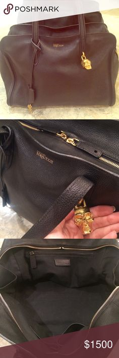 Large Alexander McQueen Padlock Zip Around Classic black Alexander McQueen bag in perfect condition. This is the largest version of McQueens Padlock. Comes with dust bag. Alexander McQueen Bags Shoulder Bags