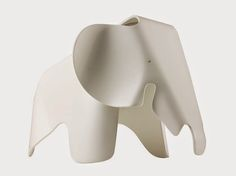 Charles and Ray Eames in 1945 designed a toy elephant made of plywood. However, it never made it into mass production.  Vitra Collection.