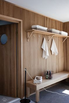 Sauna House, Sauna Room, Cabin Bathrooms, Laundry In Bathroom, Sauna Design, Scandi Home, Interior Architecture, Interior Design, Spa Rooms