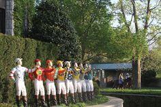 Jockey statues at Keeneland