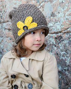 CROCHET PATTERN  Pretty Petals Slouchy  crochet slouchy hat