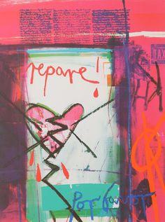 Repare! Por Favor Silkscreen Print by Barbara Rae