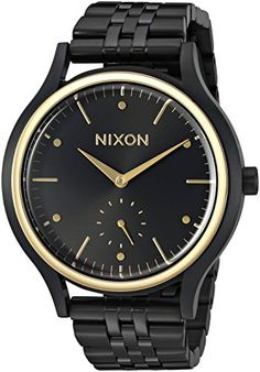 Nixon Womens Sala Quartz Stainless Steel Automatic Watch ColorBlack Model A99401000 -- Check out this great product.