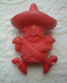 Aye, yii, yii, yiiii,   I am the Frito Bandito.  I like Frito's Corn Chips,  I love them I do.  I want Frito's Corn Chips,  I'll get them from you.  -1968 FRITO BANDITO - PENCIL TOPPER