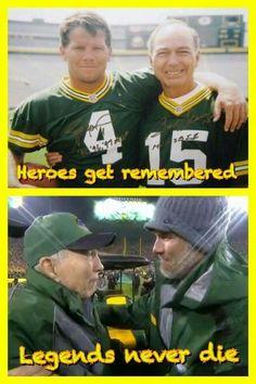 Bart Starr and Brett Favre