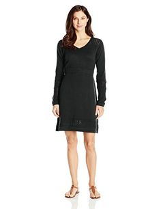 prAna Living Womens Ella Sweater Dress Small Black >>> Visit the image link more details.