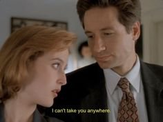 "Mulder and Scully from ""The X-Files"" 