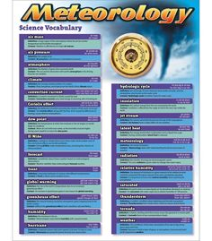 Science Vocabulary: Meteorology Chart