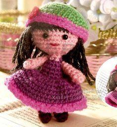 knitted crochet doll