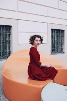 Lady in Red! - Misses Popisses Paris Mode, Vintage Mode, Parisian Style, Modest Fashion, Flare Dress, My Outfit, Lady In Red, Vintage Fashion, Feminine