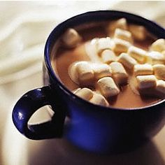 hot cocoa with LOTS of marshmallows