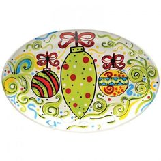 Hand Painted Christmas Platter - Shop By Artist | Southern Homes & Gardens