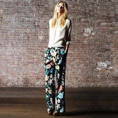 Wide Pant Floral  by Pencey Standard