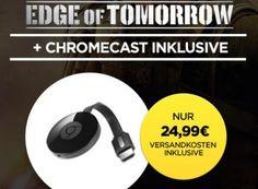 """Wuaki.tv: Google Chromecast mit """"Edge of tomorrow"""" für 24,99 Euro http://www.discountfan.de/artikel/technik_und_haushalt/wuaki-tv-google-chromecast-mit-edge-of-tomorrow-fuer-25-euro.php Wuaki.tv: Google Chromecast mit """"Edge of tomorrow"""" für 24,99 Euro (Bild: Wuaki.tv) Den Streaming-Stick Google Chromecast gibt es ab sofort in Kombination mit dem Science-Fiction-Knaller """"Edge of tomorrow"""" (Hauptrolle: Tom Cruise) für nur 24,99 Euro frei Haus. Das A"""
