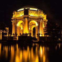 The Palace of Fine Arts in San Francisco...