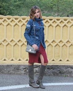 My latest #ootd on blog feat @sorelfootwear @mightypurse @mighty_purse_italia don't you miss it babes! #denim #patches #boots #sorelfootwear #fashion #style #cocoetlavieenrose http://ift.tt/2ef3n3m - http://ift.tt/1HQJd81
