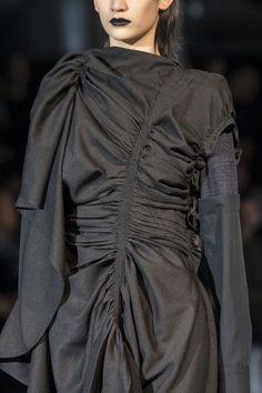 ed7e2d671a6 Yohji Yamamoto at Paris Fashion Week Fall 2017 - Details Runway Photos High  Fashion