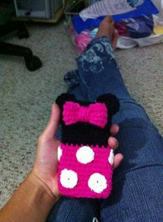Minnie Mouse inspired phone cozy