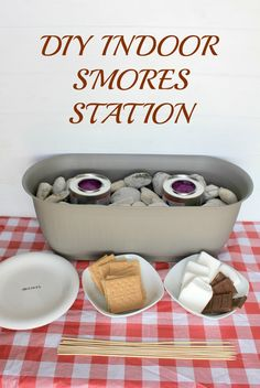 New Indoor Camping Party Food Smores Recipe Ideas Indoor Smores, Indoor Outdoor, Indoor Camping, Camping Indoors, Indoor Plants, Camping Party Foods, Camping Parties, Slumber Parties, Birthday Parties