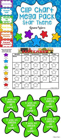 Star Clip Chart Mega Pack. The behavior calendars are updated every year!
