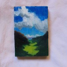 """Abstract landscape - original oil painting - """"Here the Highlands"""" de MariaMazaPaintings en Etsy"""