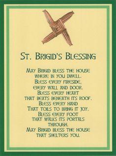 #Celtic Saint Brigid Cross Irish House Blessing Holy Post Card Set of 8