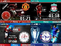 Football Themes for Nokia C3, Asha 201, Asha 200 and X2-01 #LiverpoolFC  #ChelseaFootballClub  #ManchesterUnited