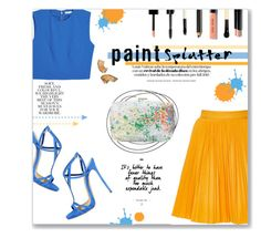 """""""Make A Splash!"""" by lauren-a-j-reid ❤ liked on Polyvore featuring MSGM, Monique Lhuillier, Dsquared2, Alice + Olivia, Folio, Bobbi Brown Cosmetics, contest, paintsplatter, contestentry and fashionset"""