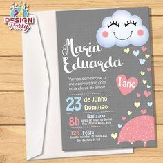 Convite Chuva de Amor + Envelope