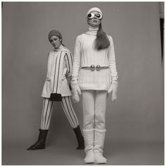 André Courrèges, Ensemble, photographed by Paul Huf, 1969 French Fashion Designers, Futuristic, 1960s, Style Inspiration, Space Age, Costumes, Huf, Retro, Collection
