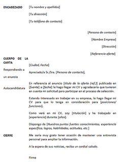 carta de presentacion para empleo