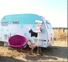 love the scotty dog and dots painted on the scotty, missy my scotty camper